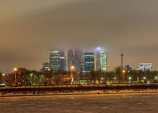 Moscow early winter morning Royalty Free Stock Photos