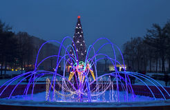 Moscow, electirc fountain Royalty Free Stock Photo