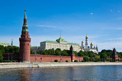 Moscow embankment of the Kremlin Royalty Free Stock Images