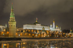 Moscow embankment of the Kremlin Stock Photography