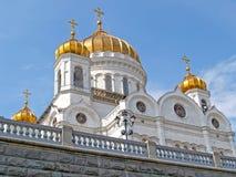 moscow En tempel av Kristus av frälsaren, den nedersta sikten Arkivfoto