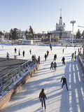 Moscow Exhibition Center Ice Rink Stock Photos