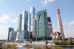 Moscow för affärsmitt stad i Ryssland Royaltyfri Fotografi