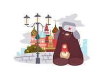 moscow för izmailovo för stadsutställning ganska vernissage stock illustrationer