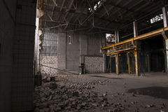 Moscow factory during demolition Stock Photography
