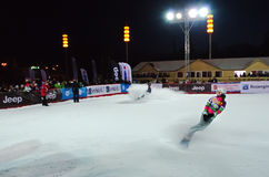 Snowboard sportswoman Stock Photography
