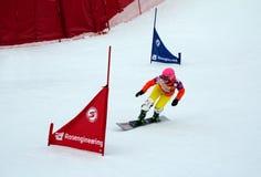 Snowboard sportswoman Stock Photos