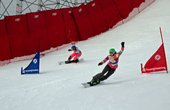 Snowboard sportswomen Royalty Free Stock Images