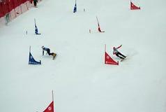 Snowboard sportsmen Royalty Free Stock Photo