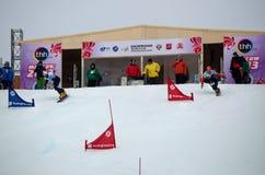Snowboard sportsmen Stock Image