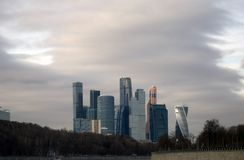 Moscow City business offices and apartments complex Royalty Free Stock Photos