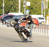 Moscow, festival of extreme motosport Royalty Free Stock Photography