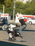 Moscow, festival of extreme motosport Royalty Free Stock Image
