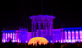 Moscow, festival of light Stock Photo