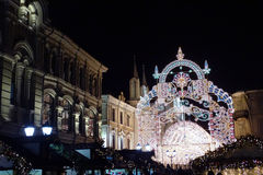 Moscow, festive street, new year Royalty Free Stock Images