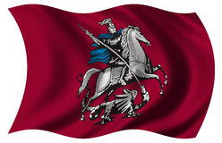 Moscow Flag Stock Photo