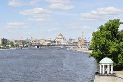 moscow flod Royaltyfri Bild