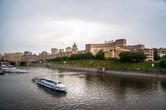 moscow flod royaltyfria foton