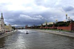 moscow flod royaltyfri foto