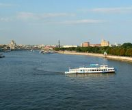 moscow flod Arkivfoton