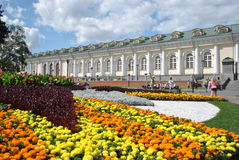 Moscow flowe bed. Zone of rest near Moscow Kremlin and Red Square Royalty Free Stock Photos