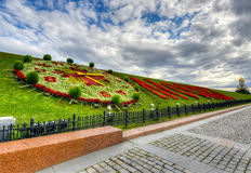 Moscow in Flowers, Poklonnaya Hill Stock Image