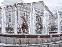 moscow fontanna Manezhnaya Aleksander i kwadrata ogród _ Obraz Stock