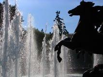 Moscow fountain. Sculptural composition with fountains near Moscow Kremlin Stock Photos