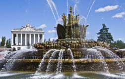 Moscow, fountain, national exhibition centre Royalty Free Stock Images