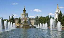 Moscow, fountains in exhibition centre Stock Photography