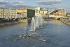 Moscow, fountains Royalty Free Stock Images
