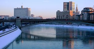 Moscow. Frosty day Stock Images