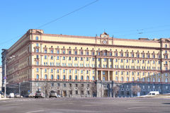 moscow fsblubyankamoscow russia fyrkant Royaltyfri Foto