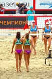 2015 Moscow Gland Slam Tournament Beach Volleyball Russia Moscow 31 may 2015 Stock Images