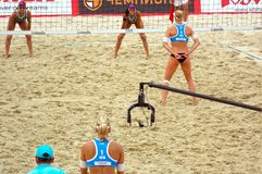 2015 Moscow Gland Slam Tournament Beach Volleyball Royalty Free Stock Images