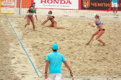2015 Moscow Gland Slam Tournament Beach Volleyball Royalty Free Stock Photography