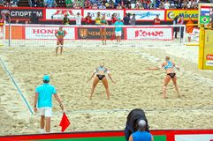 2015 Moscow Gland Slam Tournament Beach Volleyball Stock Image
