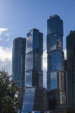 Moscow glass Skyscrapers Stock Image