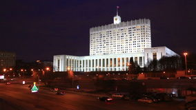 Moscow, Government house of the Russian Federation stock video