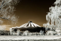 Moscow grand circus infrared view Stock Image