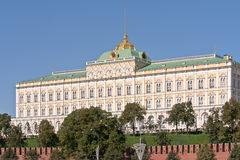 Moscow. Grand Kremlin Palace. Facade. Parade residence of president of Russian Federation. Fragment of facade of the Grand Kremlin Palace. Parade residence of royalty free stock image