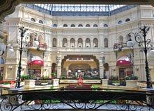 Moscow GUM shopping arcade Stock Photography