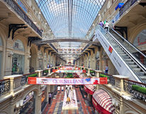 Moscow gum shopping mall Royalty Free Stock Images