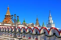 Moscow. Härliga Kremlin i Izmailovo. Royaltyfri Foto