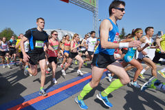Moscow Half Marathon Royalty Free Stock Photography