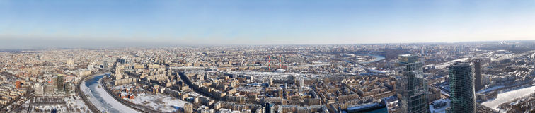 Moscow from height of the birds. Flight royalty free stock photo