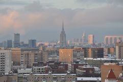 Moscow from the height of a bird`s flight royalty free stock image