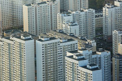 Moscow from height of bird's flighter Stock Photos