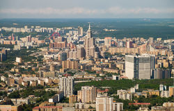 Moscow from height of the Ostankino tower Stock Image