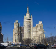Moscow, high rise building Stock Images